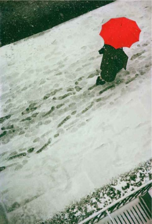 Saul Leiter, Footprints. 1950.